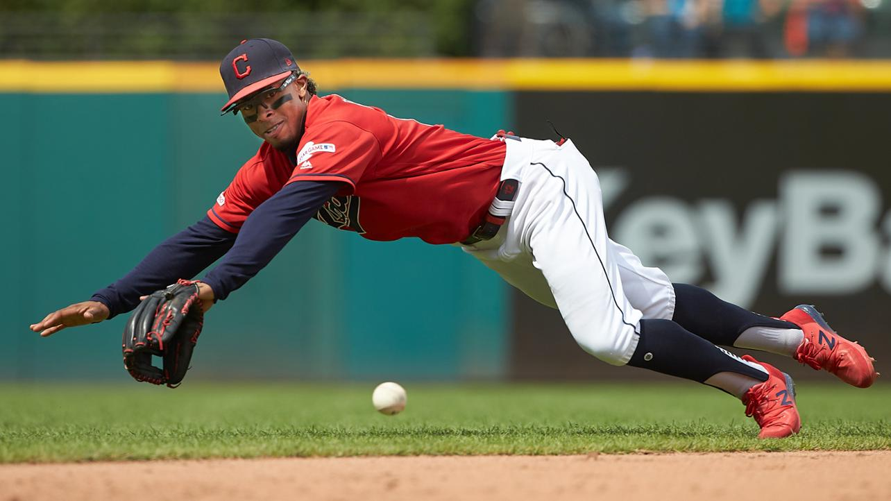 Cleveland Indians Top 10 Photos of the Year: #9 Francisco Lindor flashing the leather. Dan Mendlik/Cleveland Indians