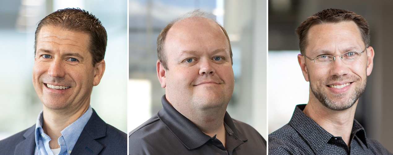 Kent Besaw as VP of customer success; Kevin McKenzie as VP of finance; and Shane Westra as VP of product
