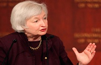 Janet Yellen submitted her resignation as a member of the Federal Reserve's Board of Governors, effective upon the swearing in of Jerome Powell as her successor as chairman of the central bank